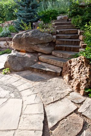 Access Through Slopes: Landscape Steps and Walkways