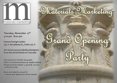 Material Marketing Grand Opening