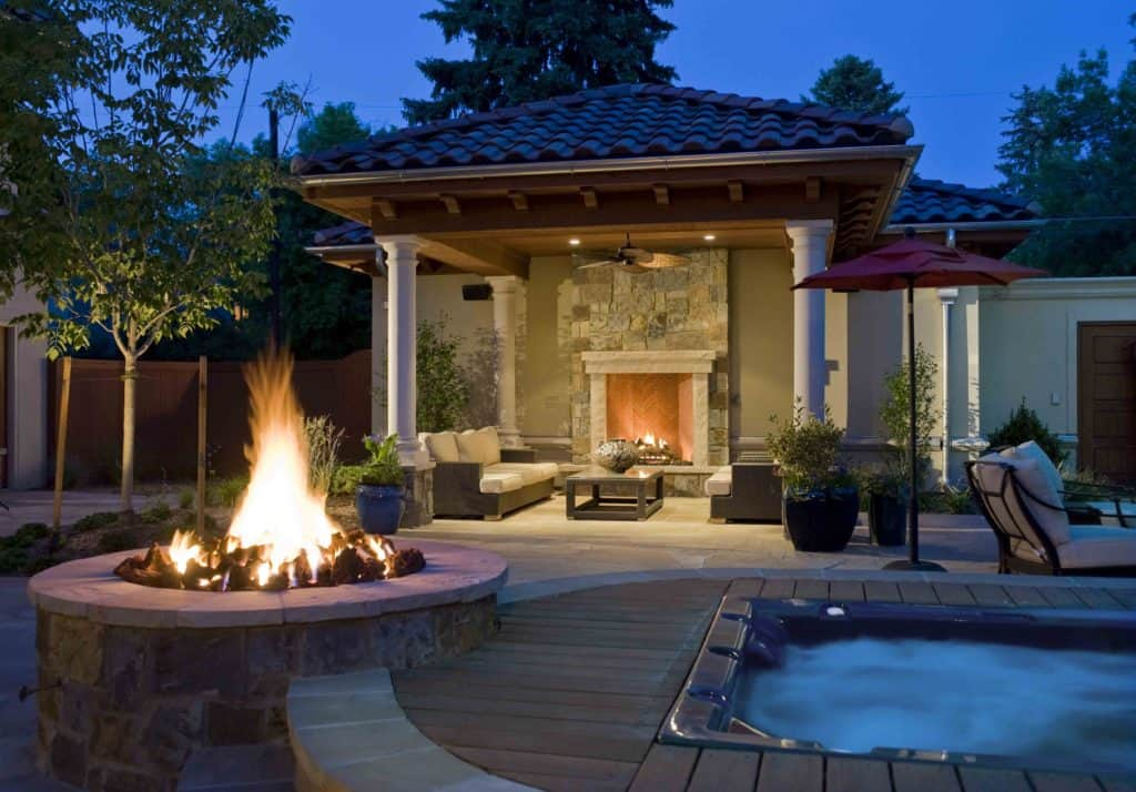pool fire place