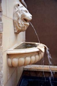 Briarwood Inn fountain