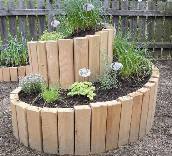 Spiral Raised Bed