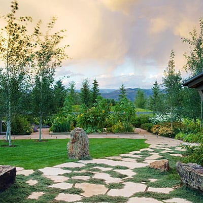 Backyard Pathway Ideas for a low budget and time project consider a gravel path Colorado Landscaping Services