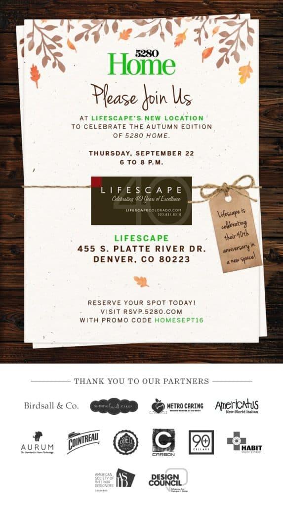 Lifescape Colorado Grand Opening Invitation