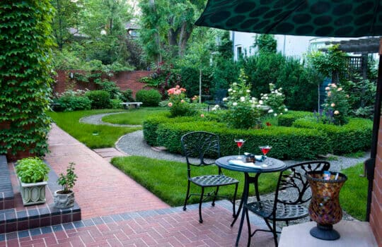 "Gardens getting attention: A lush ""knot"" garden in Denver flowers this spring."